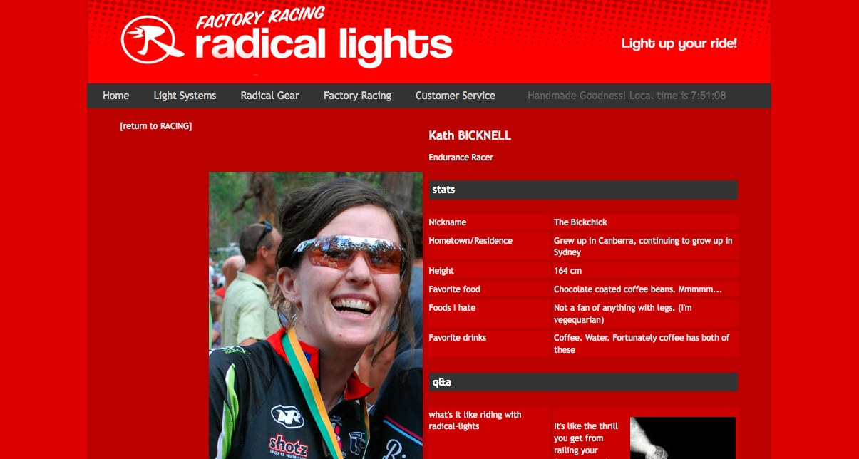 Radical Lights Factory Racing Profile | Kath Bicknell
