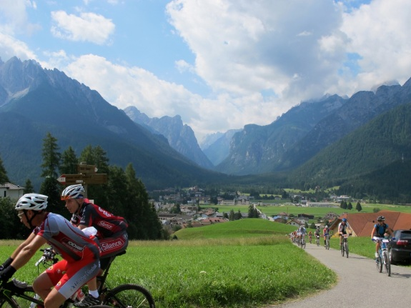Racing in the Dolomiti Superbike in Europe with the team was spectacular.