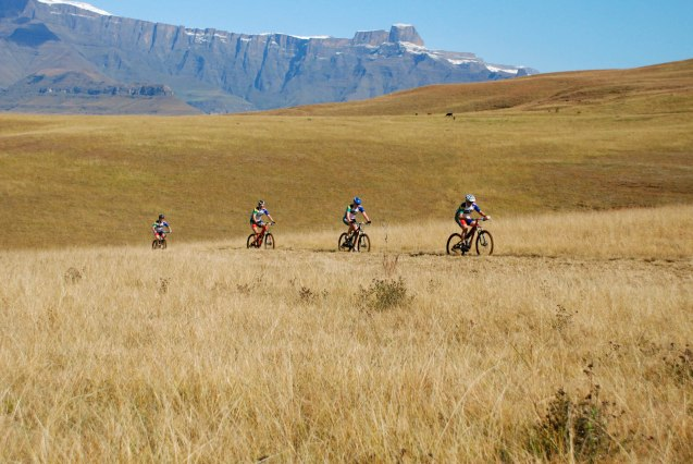 Riding through the Drakensberg Mountains