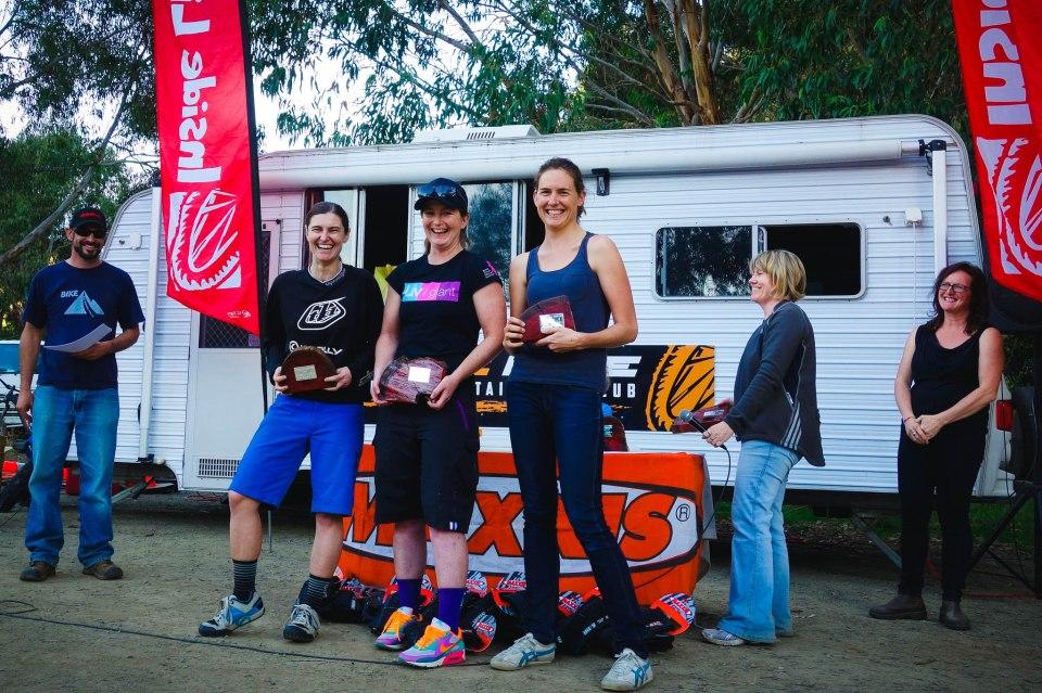 Women's winners L-R: Gen McKew, Jackie Schapel, Rosie Barnes.