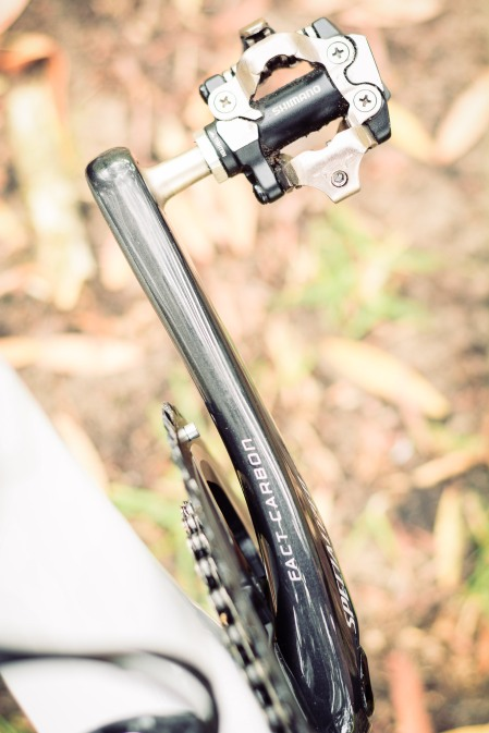 Fact carbon cranks, BYO pedals.