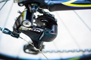 Shimano 105 takes care of the shifting.